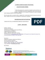INFORME PROCESO DE TELEFONIA 2016