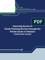 Improving Access to Family Planning Services through the Private Sector in Pakistan A Stakeholder Analysis