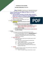 Constitution Law Exam Outline