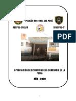 APRECIACION DE SITUACIÓN  CPNP LA PERLA