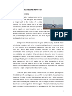 Background of the AIRLINE INDUSTRY