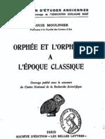 Moulinier, Orphée et l'orphisme à l'époque classique