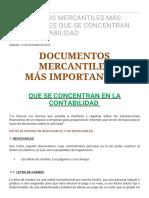 DOCUMENTOS MERCANTILES MÁS IMPORTANTES QUE SE CONCENTRAN EN LA CONTABILIDAD _ 2016