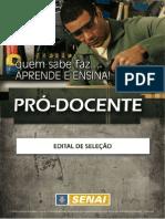 Edital SENAI - Pro Docente