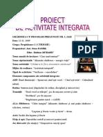 PROIECT DIDACTIC PENTRU ACTIVITATE INTEGRATA - CERC