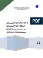 actual proyecto galvanoplpastia