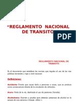 Reglamento de Normas de Transito