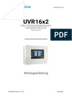 Manual UVR16x2 Montageanleitung Relaisversion V1.40