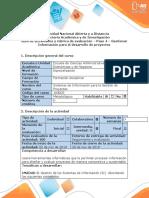 Guía de actividades y rúbrica de evaluación - Gestionar Información para el desarrollo de Proyectos