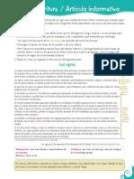Guia de Lenguaje - Articulo informativo