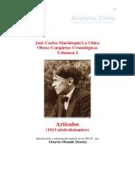 José Carlos Mariátegui - Obras completas cronológicas - v. 2 - Artículos (1923 abril-diciembre).pdf