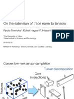 On the extension of trace norm to tensors