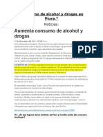 Consumo de alcohol y drogas en Piura