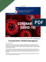 LULAC - Coronavirus- Emergencia Global