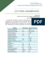POLIMEROS PARA MEMRANAS