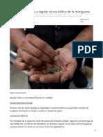 26/Febrero/2020 Senado se apresta a regular el uso lúdico de la mariguana