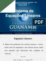 Aula_sistema de Equações Lineares