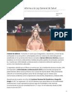 19/Febrero/2020 Propone Sylvana Reforma a La Ley General de Salud