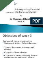 MBA7001 Week 3.2 Financial Ratios 1