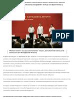 03-12-2019 Héctor Astudillo y Esteban Moctezuma, inauguran los Diálogo con Supervisoras y Supervisores 2019-2020.