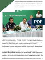 23-12-2019 Instruye Héctor Astudillo a reforzar acciones para mejorar la atención a vacacionistas; Acapulco se convierte en el centro de atención del turismo nacional.