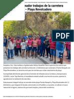 30-12-2019 Supervisa gobernador trabajos de la carretera Puerto Marqués.