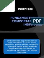 Fundamentos del Comportamiento Individual