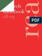 Research Handbook 2008_09 RCA