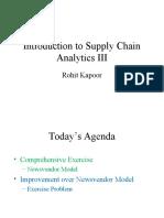 Introduction to Supply Chain Analytics III