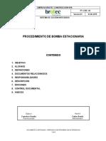 PT–CDR-04 Procedimiento de bomba estacionaria