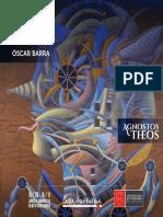 """Catálogo """"Agnostos Theos"""" exposición de Oscar Barra en Casa Autónoma Arte y Cultura"""