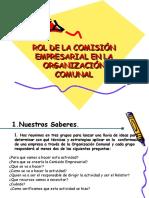 ROL DE LAS COMISIONES EMPRESARIALES EN LAS O.C.