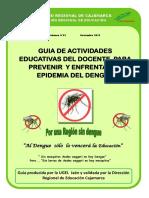 GUIA DE ACTIVIDADES EDUCATIVAS DEL DOCENTE PARA PREVENIR Y ENFRENTAR LA EPIDEMIA DEL DENGUE