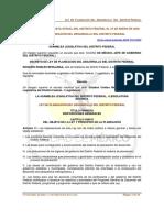 Ley de Planeación Del Desarrollo Del Distrito Federal