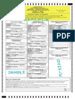 Precinct 1 Thru 8 April 7 Sample