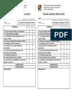 pauta evaluación TALLER DE TEATRO 2019