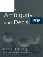 RISK, AMBIGUITY AND DECISION (STUDIES IN PHILOSOPHY)