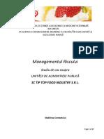 Managementul Riscului - Studiu de Caz Cofetariile TIP TOP