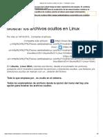 Mostrar los archivos ocultos en Linux - Cambiate a Linux