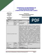 Fundamentos y Práctica de Psicoterapia 2017 Prontuario