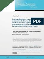Concepciones en torno a la normatividad en la didáctica Tesis
