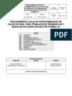 PROCEDIMIENTO IZAJE DE INTERCAMBIADOR DE CALOR HX-3006