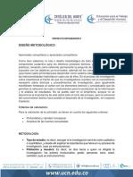 ACTIVIDAD UNO (1) DISEÑO METODOLOGICO