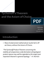 Tychonoff's Theorem and the Axiom of Choice