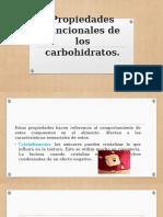 Propiedades funcionales de los carbohidratos.
