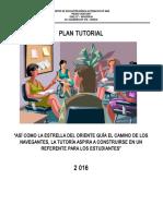 Plan de Tutoría 2020