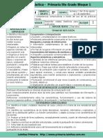 Plan 5to Grado - Bloque 1 Español (2016-2017)