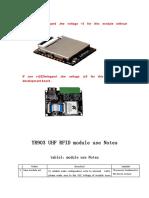 YR903 UHF RFID module use Notes
