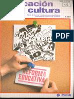 Educación y Cultura (Num 15 Jul 1988)