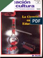 Educación y Cultura (Num 17 Mar 1989)